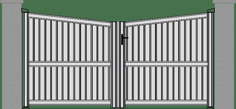 Portón Aluminio Modelo Contemporáneo pleno N-302
